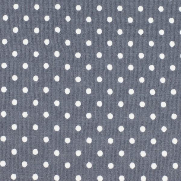 Jersey Punkte grau, Öko Tex Standard 100