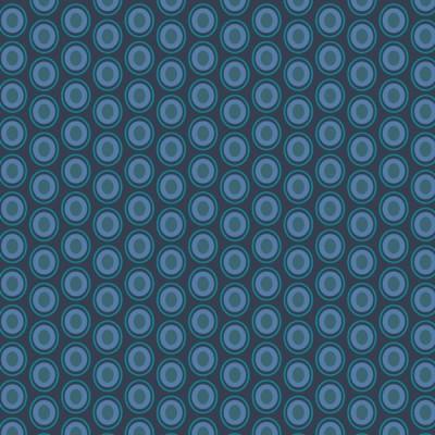 Baumwolle Oval Elements - Mood Indigo