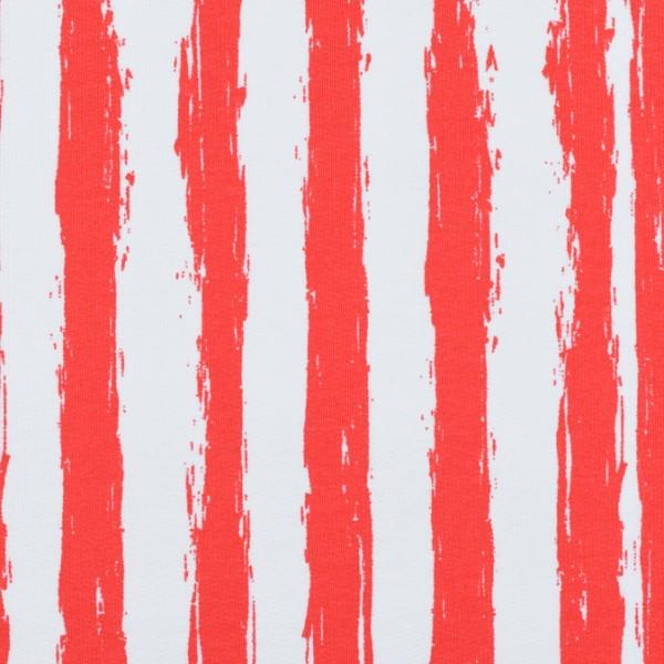 Sweat French Terry Streifen rot