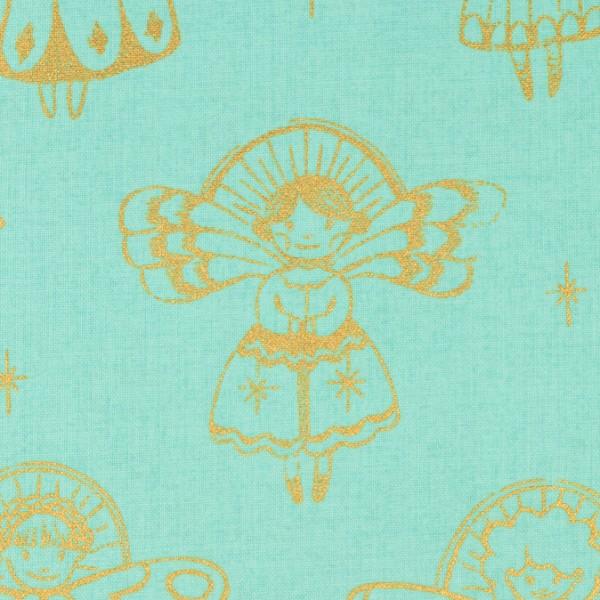 Cotton and Steel - angels aqua mettalic