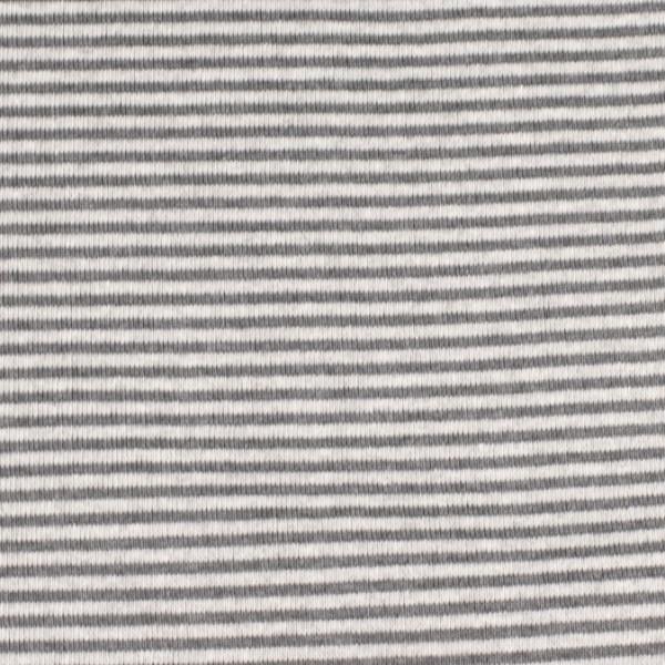 Bündchenware ringel grau/hellgrau , Öko Tex Standard 100