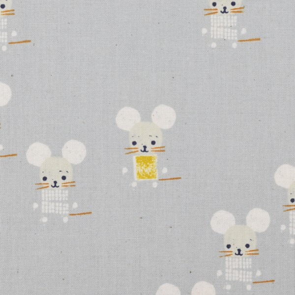 Cotton and Steel - Sunshine -Little Friends Gray