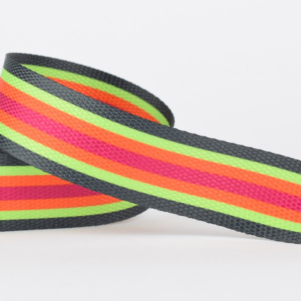 Gurtband - Streifen schwarz
