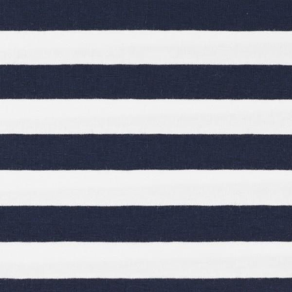 Jersey streifen marine/weiß, Öko Tex Standard 100