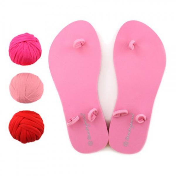 DIY Flip Flops Hoooked rosa Köln Stoffe Sale