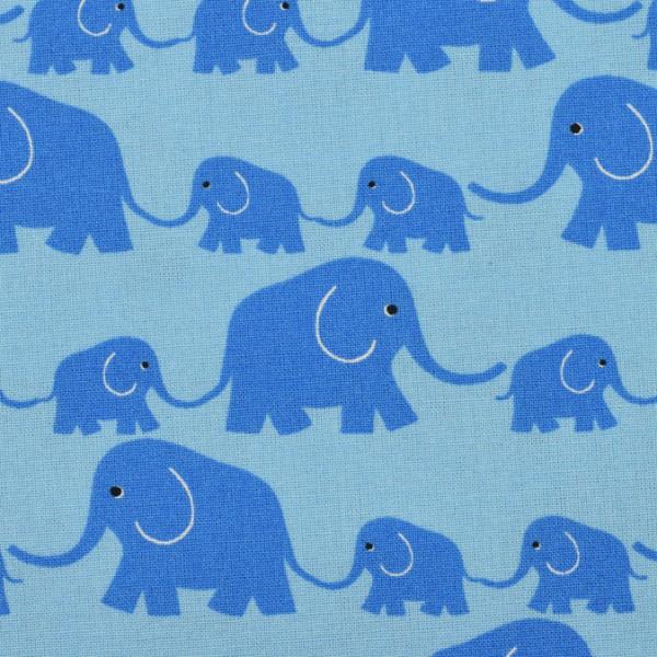 kbA Westfalenstoffe Baumwolle Junge Linie Elefanten hellblau