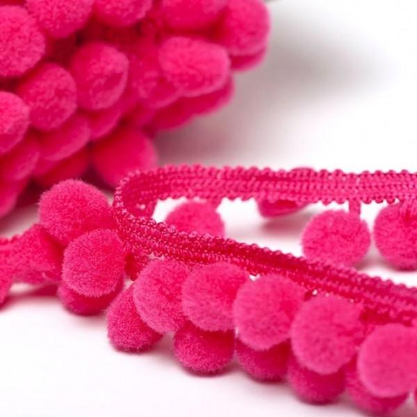 Pomponborte günstig online kaufen stoffe köln mittel pink