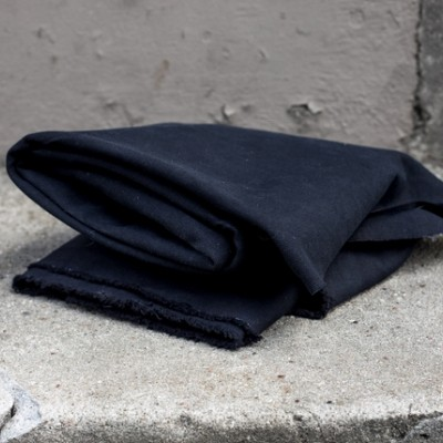 HEAVY WASHED CANVAS, 17 oz - Black