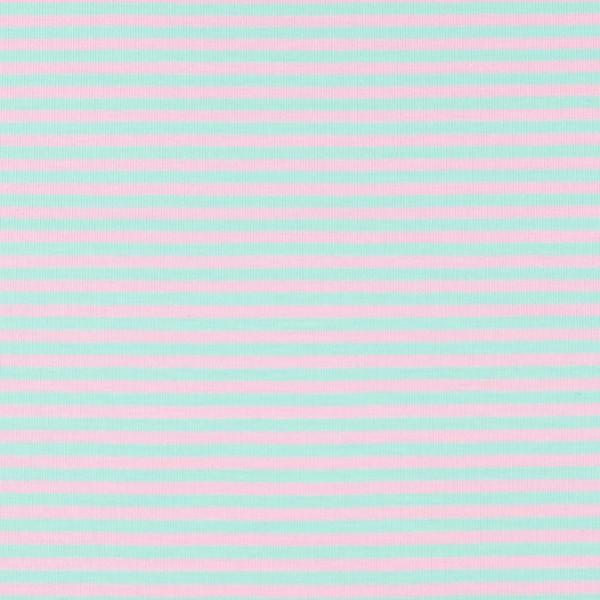 Jersey streifen mint/rosa, Öko Tex Standard 100