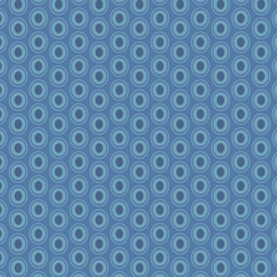 Baumwolle Oval Elements - Sapphire