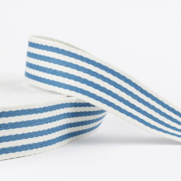 Gurtband - Ringel blau/natur