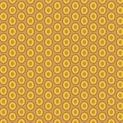 Baumwolle Oval Elements - Mustard