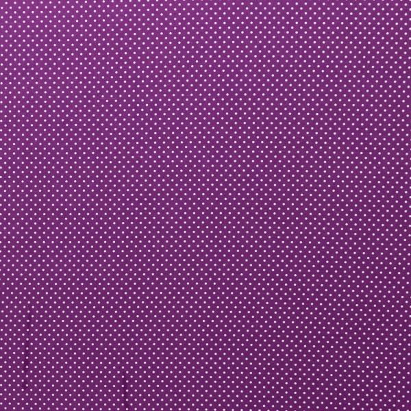 Punkte Baumwollstoff violett