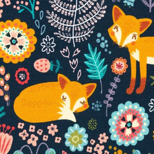 Jersey Theo, Füchse Wiesenblumen dunkelblau