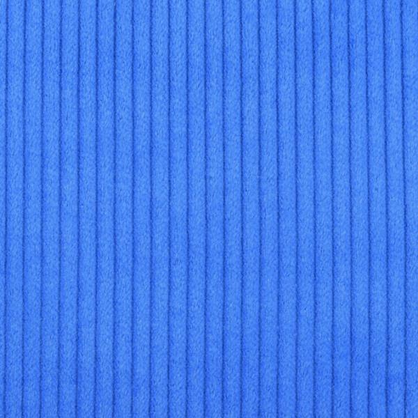 Cordstoff breit blau