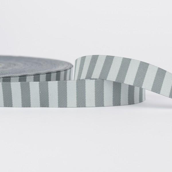 Webband - Ringelband - grau-anthrazit