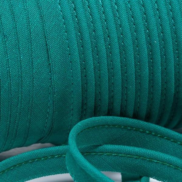 Paspelband uni - smaragdgrün